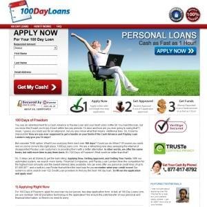 100 Day Loans Personal Loans
