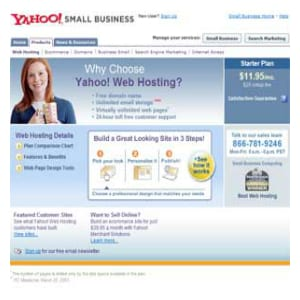 Does Yahoo! Web Hosting work?