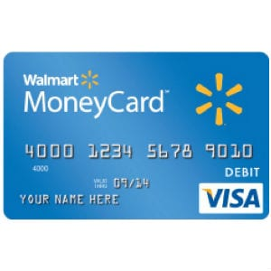 Walmart cartões pré-pagos depósito direto