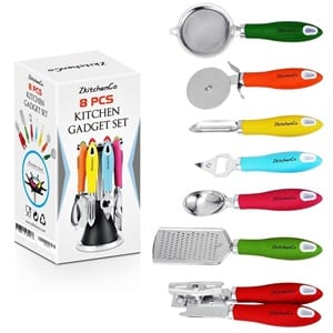 8 piece kitchen gadgets utensils cooking tools review for Lagostina kitchen tool set 8 pc