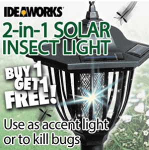 Does the 2 in 1 Solar Insect Light Work?