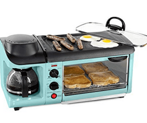 Does the Nostalgia BSET300 Blue Retro Series Breakfast Station Work?